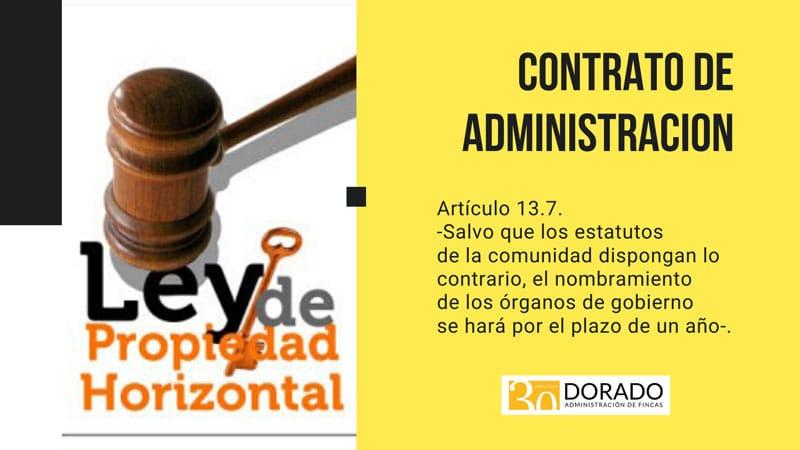 el contrato de administracion de fincas articulo 13.7 dorado administracion y gestion de fincas