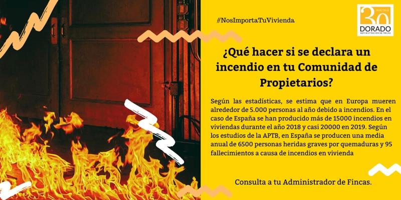 ¿Que hacer si se declara un incendio en tu comunidad de propietarios? estadisticas europa y espana dorado administracion y gestion de fincas