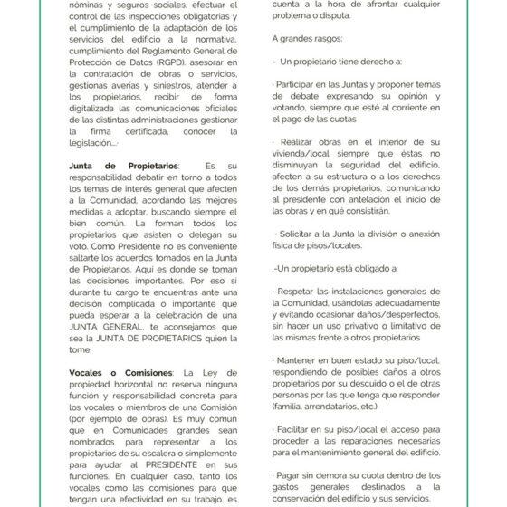 Dorado Administración y Gestion de Fincas Manual del Presidente guia para ejercer la presidencia 5